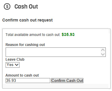 Member Cash Out