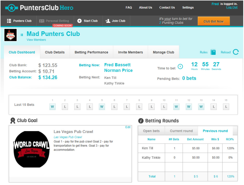 Club Dashboard